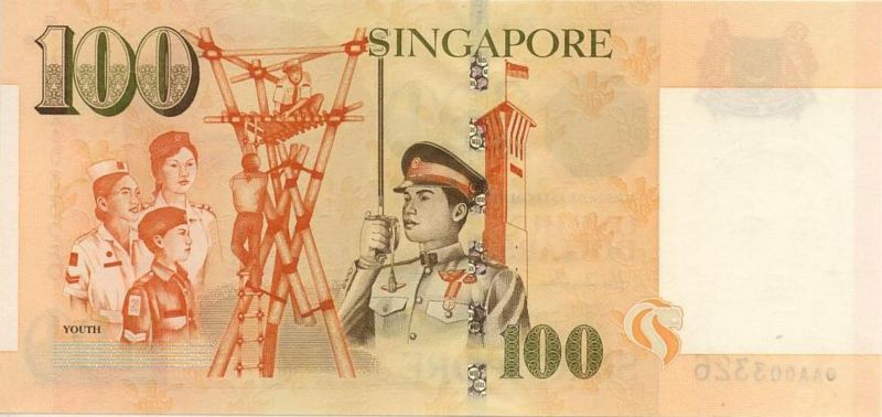 新加坡幣圖片-100元-1999年版