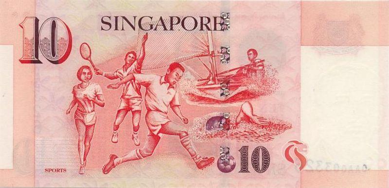 新加坡幣圖片-10元-1999年版