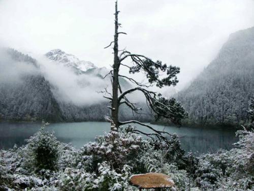 九寨溝冬季風景圖片-長海