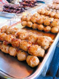 泰國小吃圖片-辣烤肉丸