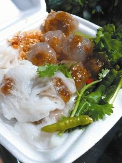 泰國小吃圖片-碎肉水晶米球