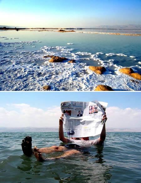 以色列與約旦交界處死海:地球最低的水域