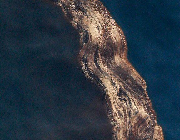 墨西哥灣漏油污染規模鳥瞰圖