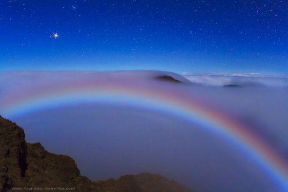 火星和月虹圖片