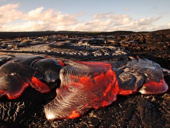 美國夏威夷繩狀熔岩