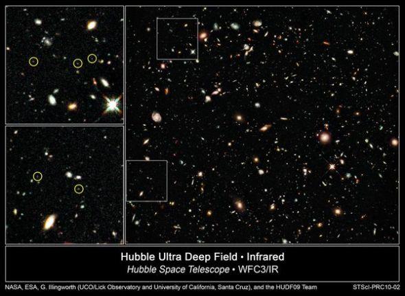 圖片:美國國家地理2010年十大太空發現-哈勃發現最早期星系