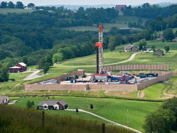 賓夕法尼亞州頁岩下鑽探天然氣