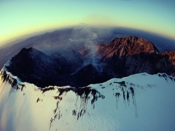 聖海倫斯火山噴發後景象