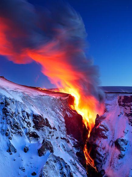 冰島火山岩漿流
