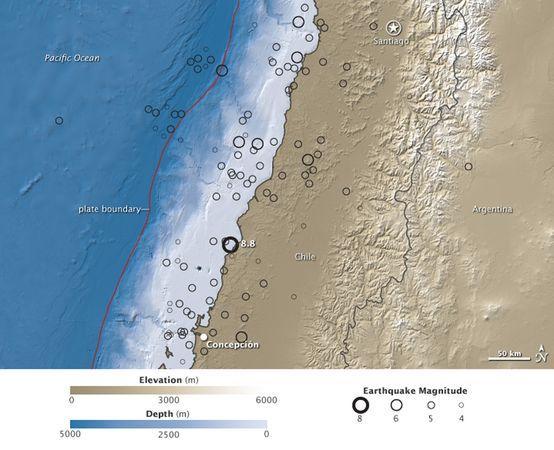 智利地震改變地軸令時長縮短