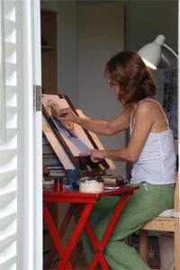 新加坡圖片:穿梭在波斯陶路一帶的老建築之間,看畫室內的畫家全神貫注做素描,頓時將腳步放輕