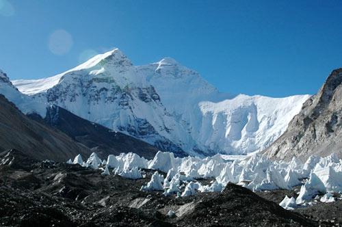 西藏絨布冰川