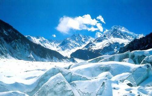 甘肅透明夢柯冰川