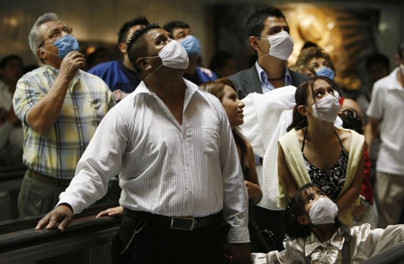 H1N1口罩遮住了全世界的臉龐