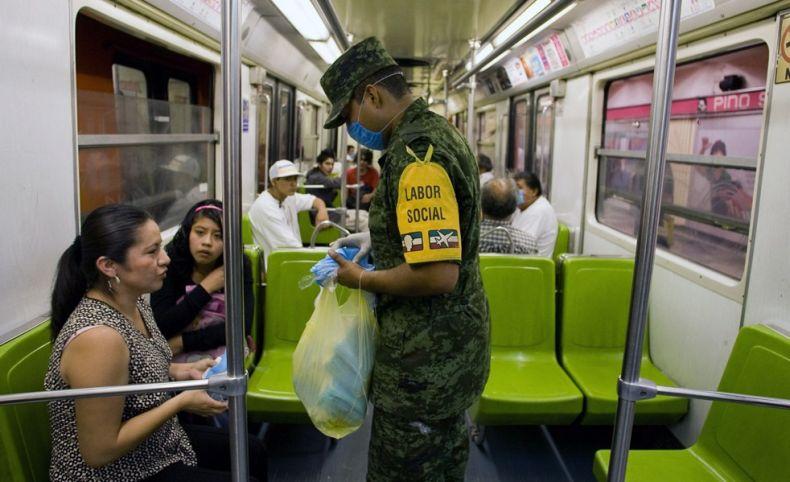攝影圖片:H1N1遮住了全世界的臉龐