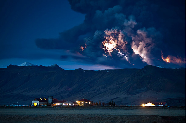 圖片:冰島火山大噴發