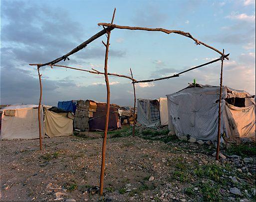 圖片:海地的臨時避難所