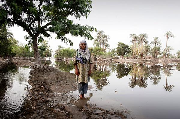圖片:洪災後無家可歸的災民